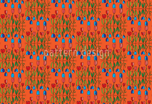World Of Tulips Vector Ornament