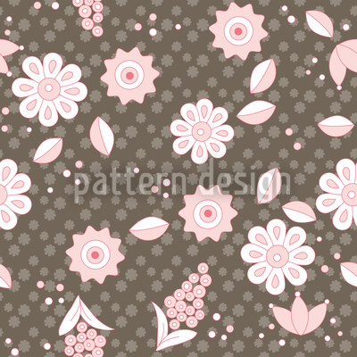 Nordic Floral Dream Seamless Vector Pattern Design