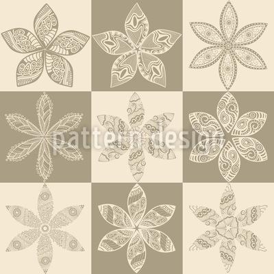 Filigrane Blumen Parade Designmuster