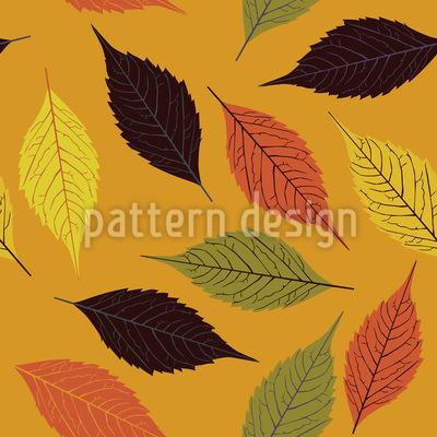 Birkenblatt Im Herbst Nahtloses Vektor Muster