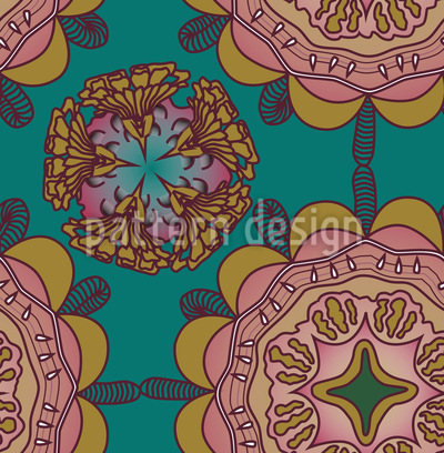 Vintage Carnation Fantasy Vector Design