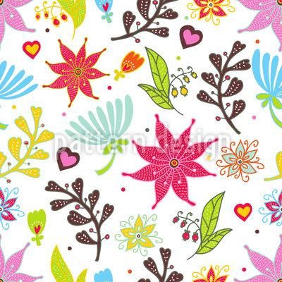 Wir Lieben Blumen Musterdesign
