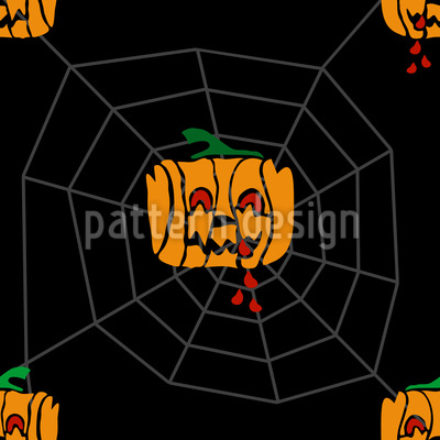 Vampire Pumpkins Repeating Pattern