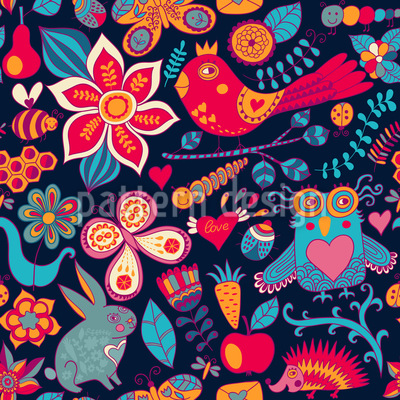 Night In The Magic Forest Design Pattern