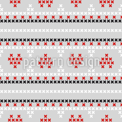 A Heart For Embroidery Seamless Pattern