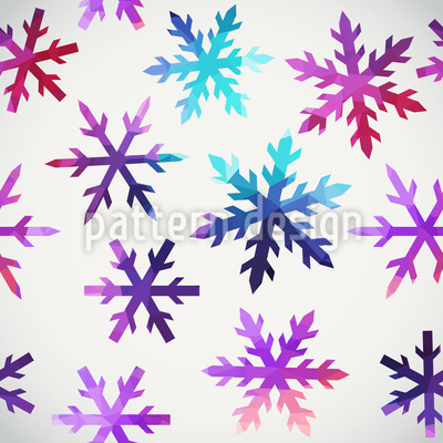 Ice Crystals Seamless Vector Pattern Design