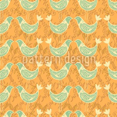 Turtle Doves At Sunset Pattern Design