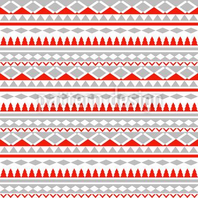 Weihnachtsgeometrie Rapportiertes Design