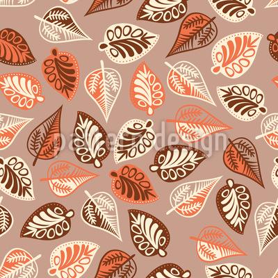 Budapest Leaf Melancholy Seamless Vector Pattern
