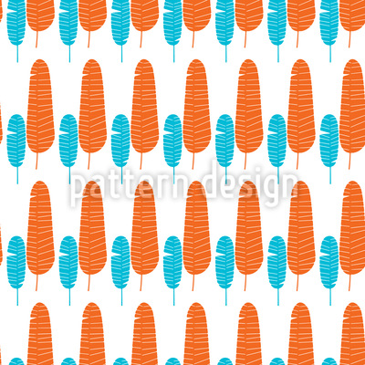 Feather Tree Alleys Seamless Pattern