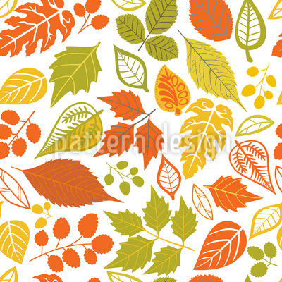 Bright Foliage Vector Design