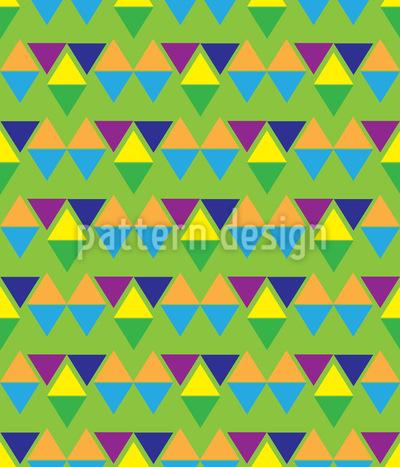 Azteken Dreizack Muster Design