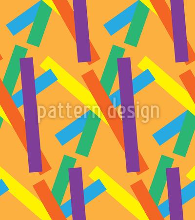 Streifen Flickflack Designmuster