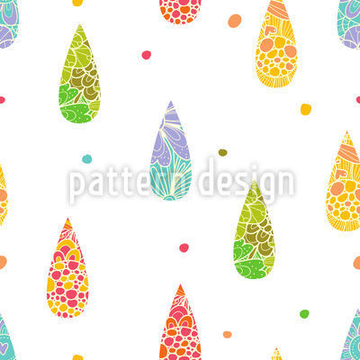 Refreshing Raindrops Seamless Vector Pattern Design