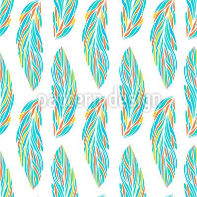 Feather Leaves Repeat Pattern