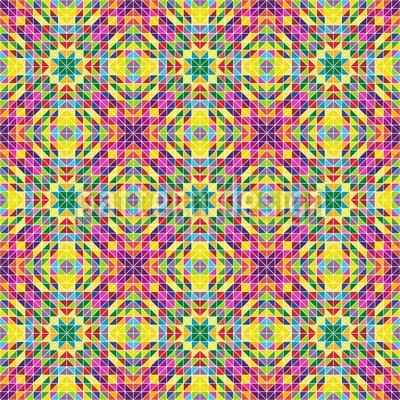 Rainbow Mosaic Repeat