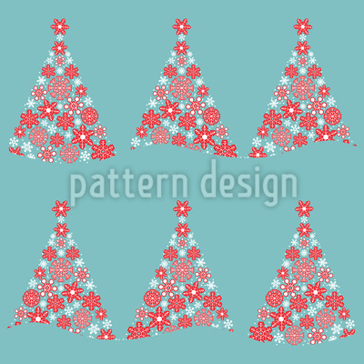 Christmassy Forest Pattern Design