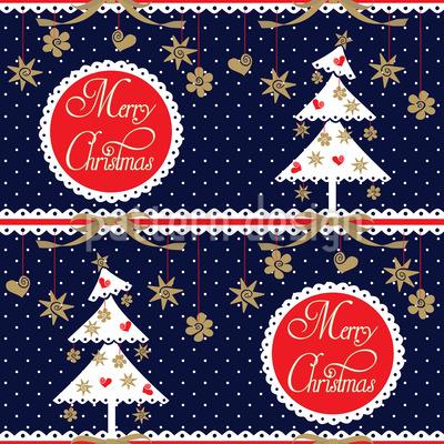アルプス・クリスマス シームレスなベクトルパターン設計