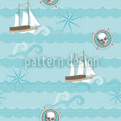 Piraten Ahoi Vektor Muster