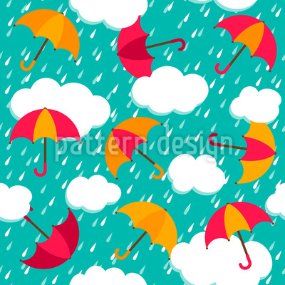 The Umbrellas Of Salzburg Seamless Vector Pattern Design
