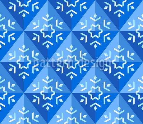 Winter Geometry Vector Pattern