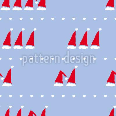 Counting Santa Caps Seamless Vector Pattern