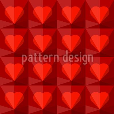 Rubin Herzen Vektor Muster