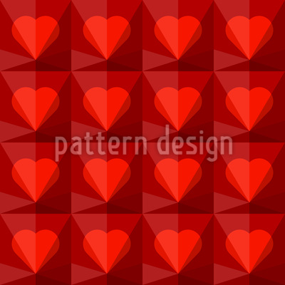 Ruby Hearts Vector Pattern