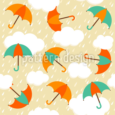 Regenschirme Im Abendregen Rapportiertes Design