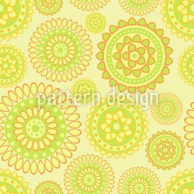 Citrus Mandalas Seamless Pattern