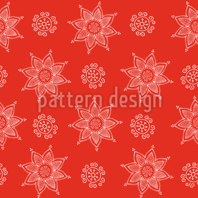 Indische Blumen Weihnacht Rapportmuster