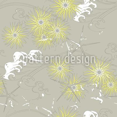 Chrysanthema Nahtloses Vektormuster