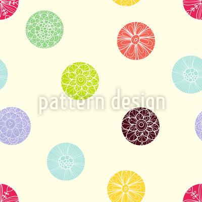 Blühende Punkte Muster Design