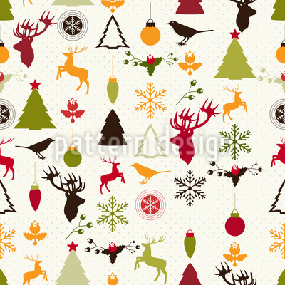 Christmas Joy Seamless Pattern