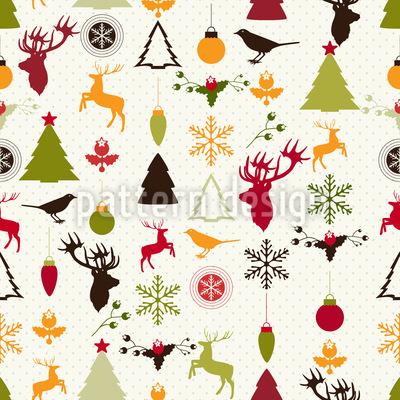 Weihnachtsglück Nahtloses Vektormuster