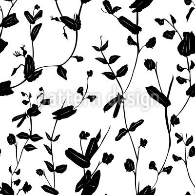 Blumen Der Hoffnung Nahtloses Vektormuster
