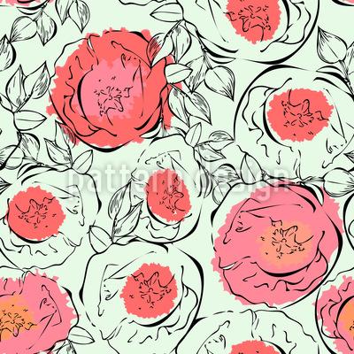 Mohnblumen Muster Design