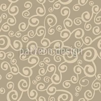 Network Of Curls Seamless Pattern