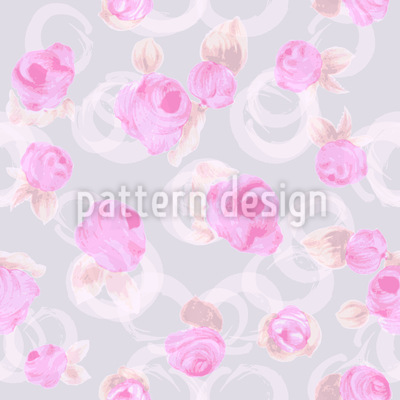 Delicate Roses Vector Pattern