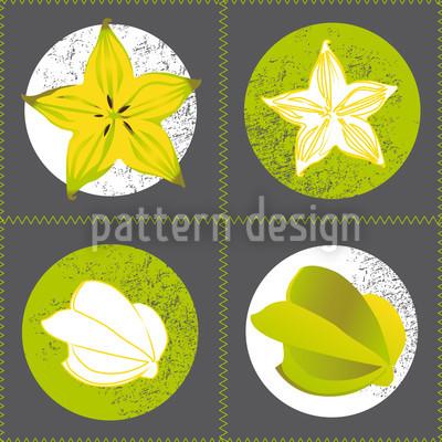 Sternfrucht Vektor Ornament