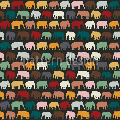 Elephant Zone Seamless Pattern