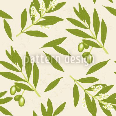 Olivenzweige Nahtloses Muster