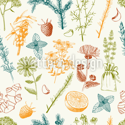 The Healing Power Of The Garden Seamless Pattern