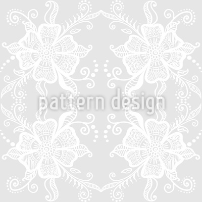 Lacy Blossoms Seamless Vector Pattern