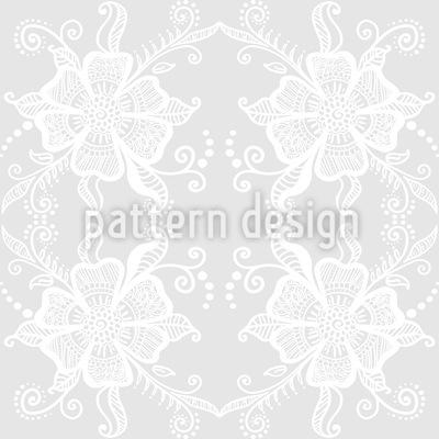 Spitzen Blüten Nahtloses Vektor Muster