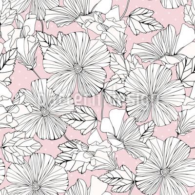 Scrapbook Hibiskus Vektor Muster