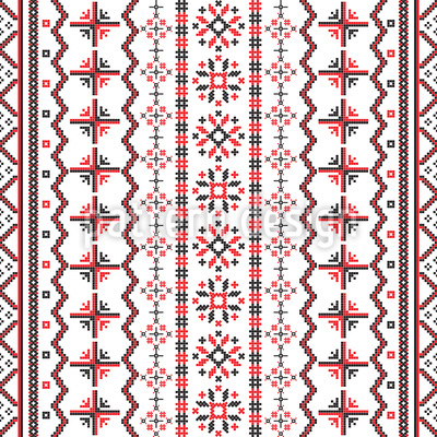 Romanian Embroidery Vector Pattern