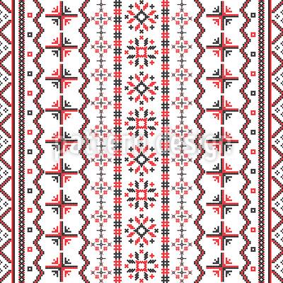 Rumänische Stickerei Nahtloses Vektormuster