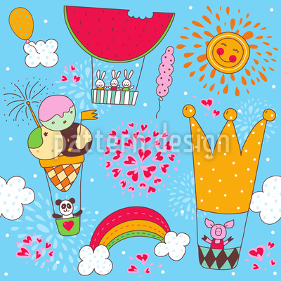 A Merry Balloon Ride Pattern Design