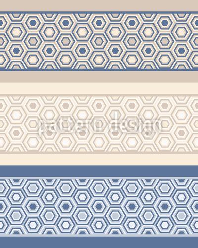 Hexagon Bordüren Nahtloses Vektor Muster